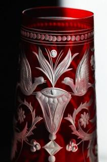 Casa Padrino Luxus Champagnerglas 6er Set Rot / Silber Ø 6, 5 x H. 26, 5 cm - Handgefertigte und handgravierte Champagnergläser - Hotel & Restaurant Accessoires - Luxus Qualität - Vorschau 3