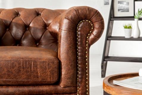 Chesterfield Spaltleder Sessel Vintage Braun aus dem Hause Casa Padrino - Lounge Sessel - Vorschau 2