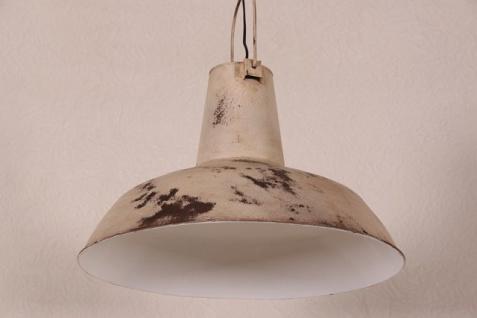 Casa Padrino Vintage Industrie Hängeleuchte Antik Stil Weiß Metall - Restaurant - Hotel Lampe Leuchte - Industrial Leuchte