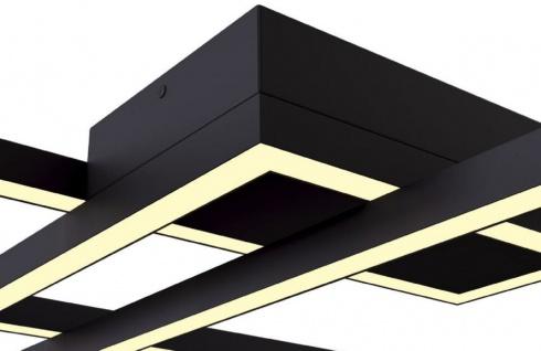 Casa Padrino Designer LED Deckenleuchte Schwarz 78 x 68 x H. 8 cm - Luxus Kollektion - Vorschau 2