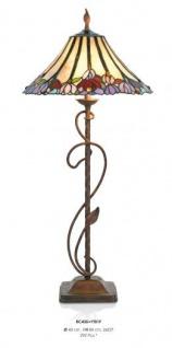 Handgefertigte Tiffany Hockerleuchte Tischleuchte Höhe 84 cm, Durchmesser 40 cm - Leuchte Lampe
