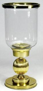 Casa Padrino Art Deco Kerzenleuchter Gold Ø 17 x H. 38 cm - Deko Accessoires
