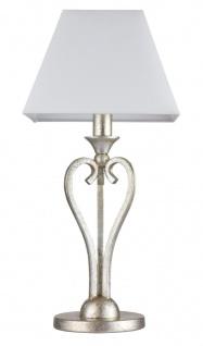 Casa Padrino Luxus Barockstil Tischleuchte Gold-Bronze / Weiß Ø 23 x H. 50 cm - Luxus Qualität