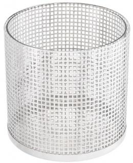 Casa Padrino Luxus Kerzenleuchter Silber Ø 25, 5 x H. 25 cm - Runder Kerzenleuchter aus Edelstahl und Glas - Luxus Deko Accessoires - Vorschau 4