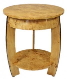 Casa Padrino Art Deco Beistelltisch Vogelaugen Ahorn H65 x 75cm - Ludwig XVI Antik Stil Tisch - Möbel