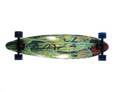 Paradise Longboard Skateboard Rasta Bamboo Kick Pintail complete PREBUILT