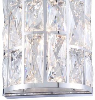 Casa Padrino Luxus Wandleuchte Silber 14, 7 x 10 x H. 21, 2 cm - Elegante Wandlampe mit Kristallglas - Vorschau 4