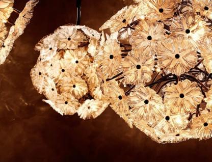 Casa Padrino Luxus Leuchte - Luxus Antik Messing Hängeleuchte Durchmesser 80 x H 80 cm - Vorschau 5