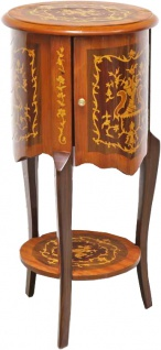 Casa Padrino Barock Beistelltisch mit Schubladen Braun Intarsien 80 x 40 cm - Antik Stil Beistelltisch - Telefontisch - Möbel - Vorschau 3