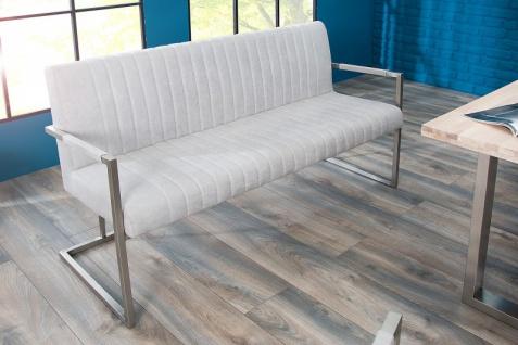 Casa Padrino Designer Sitzbank Stone Grau Breite 160 cm, Höhe 80 cm - Vorschau 5