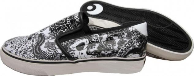 Osiris Skateboard Schuhe Scoop Black/White Shoes