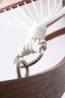 Casa Padrino Hängeschaukel aus Eucalyptus Holz Hängematte - Vintage Hänge Schaukel Matte Schwebeliege - Vorschau 2