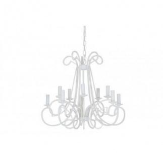 Casa Padrino Barock Decken Kronleuchter Weiß Durchmesser 75 x H 141 cm Antik Stil - Möbel Lüster Leuchter Deckenleuchte Hängelampe