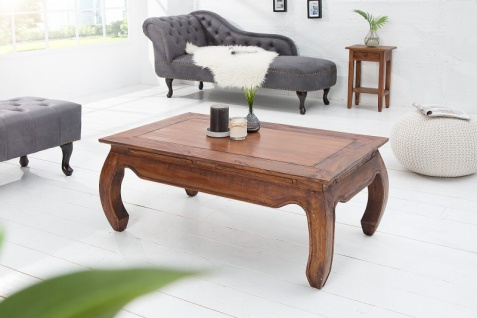 Casa Padrino Designer Massivholz Mahagoni Couchtisch Natur B.100cm x H.40cm x T.60cm - Salon Wohnzimmer Tisch - Vorschau 3