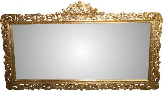 Casa Padrino Barock Luxus Wandspiegel Gold 207 x H. 120 cm - Barock Spiegel - Limited Edition