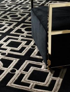 Casa Padrino Luxus Hotel Teppich Schwarz / Taupe - Verschiedene Größen - Luxus Hotel Accessoires