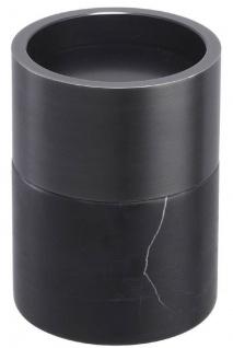 Casa Padrino Luxus Kerzenhalter Set Schwarz / Bronzefarben - 3 runde Marmor Kerzenhalter - Luxus Qualität - Deko Accessoires - Vorschau 5
