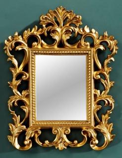 Casa Padrino Barock Wandspiegel Gold 40 x H. 50 cm - Barockstil Möbel