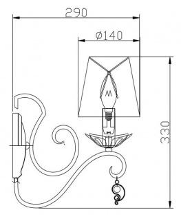 Casa Padrino Barockstil Wandleuchte Weiß / Gold 14 x 29 x H. 33 cm - Barock Möbel - Vorschau 5
