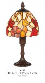 Tiffany Tischleuchte Durchmesser 15cm, Höhe 29cm Y102 Leuchte Lampe