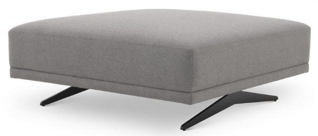 Casa Padrino Luxus Hocker Grau / Schwarz 108 x 108 x H. 41 cm - Sitzhocker - Fußhocker - Wohnzimmer Möbel - Luxus Kollektion