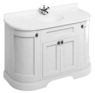 Casa Padrino Waschschrank / Waschtisch mit Marmorplatte und 4 Türen 134 x 55 x H. 93 cm