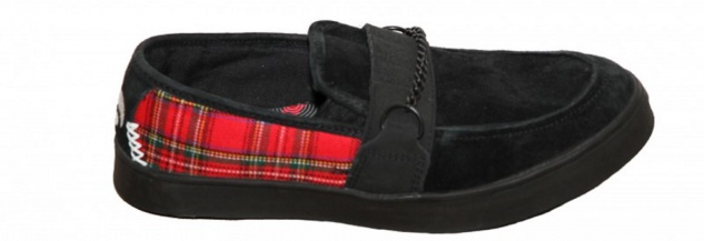 Osiris Skateboard Schuhe Slip On Branson Black / Red Plaid Slipper