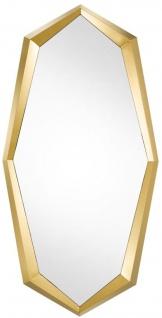 Casa Padrino Designer Edelstahl Spiegel / Wandspiegel Gold 90 x H. 180 cm - Luxus Qualität
