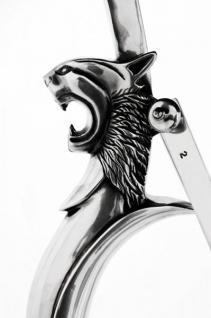 Casa Padrino Luxus Barock Beistelltisch Messing Vintage Silber Finish 60 x H 78 cm - Tisch Möbel - Vorschau 2
