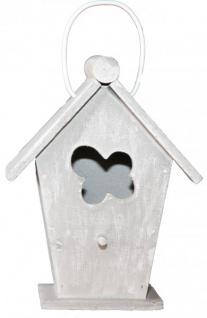 Casa Padrino Designer Vogelhaus Mini Grau- Vogelpalast