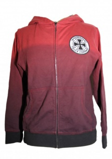 Independent Truck Company Skateboard Hooded Zip Sweater Red