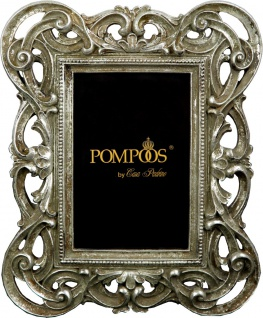 Pompöös by Casa Padrino Barock Bilderrahmen Antik Stil Silber von Harald Glööckler 25 x 20 cm - Foto Rahmen