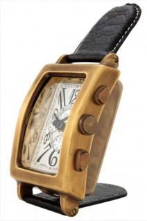 Casa Padrino Designer Luxus Tischuhr Goldfarben Messing B 7 cm, H 19 cm - Edel & Prunkvoll - Vorschau 2