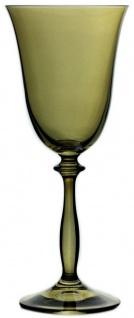Casa Padrino Luxus Barock Weißweinglas 6er Set Bernsteinfarben Ø 8, 5 x H. 21 cm - Handgefertigte Weingläser - Hotel & Restaurant Accessoires - Luxus Qualität