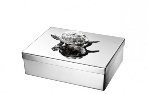 Casa Padrino Luxus Beauté Box Schildkröte 29 x 22 x H. 14 cm - Schmuckkasten - Schmuckkästchen - Schmuckschatulle