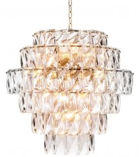 Casa Padrino Luxus Kristallglas Kronleuchter Ø 80 x H. 80 cm - Edel & Prunkvoll - Vorschau 2