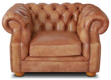 Casa Padrino Luxus Chesterfield Leder Sessel 125 x 100 x H. 80 cm - Verschiedene Farben - Echtleder Wohnzimmer Sessel - Chesterfield Wohnzimmer Möbel