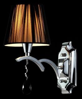 Casa Padrino Barock Kristall Wandleuchte Chrome 26 x H 30 cm Antik Stil - Wandlampe Wand Beleuchtung