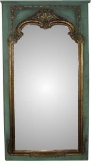 Casa Padrino Barock Wandspiegel in Petrolgrün/Gold B 105 cm, H 192 cm, Antik Look - Edel & Prunkvoll