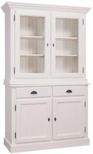 Küchenschrank weiß landhausstil  Casa Padrino Landhausstil Küchenschrank Weiß 128 x 45 x H. 200 cm ...