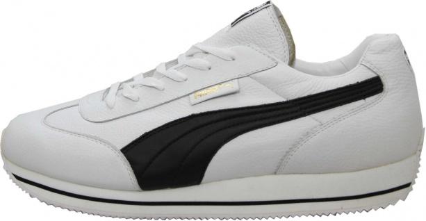 Puma Schuhe Street Cat Leather White / Black - Sneaker Sneaker Schuhe - Laufschuhe - Vorschau 2