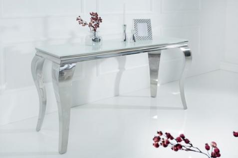Casa Padrino Designer Konsole 140 cm Weiss / Silber - Modern Barock - Vorschau 5
