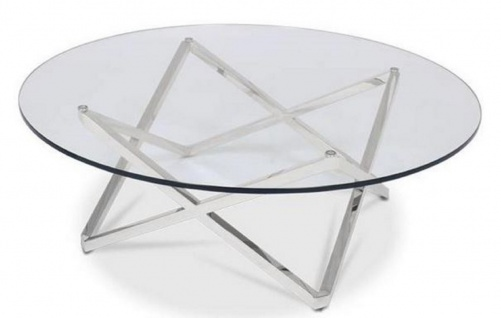 Casa Padrino Luxus Couchtisch Silber Ø 60 x H. 50 cm - Runder Wohnzimmertisch mit Glasplatte - Luxus Wohnzimmermöbel