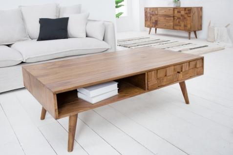 Casa Padrino Designer Massivholz Couchtisch Natur B.117 x H.40 x T. 60 Salon Wohnzimmer Tisch - Vorschau 3