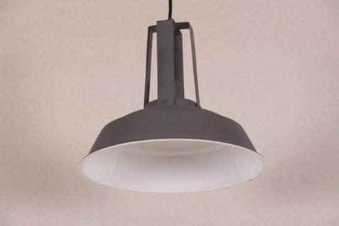 Casa Padrino Vintage Industrie Hängeleuchte Antik Stil Matt Dunkelgrau Metall Durchmesser 34cm - Restaurant - Hotel Lampe Leuchte - Industrial Leuchte