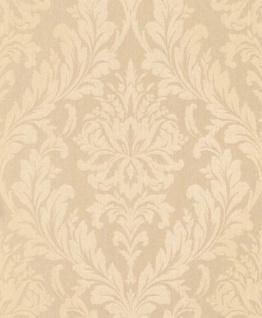 Casa Padrino Barock Textiltapete Apricot / Creme 10, 05 x 0, 53 m - Wohnzimmer Tapete - Deko Accessoires im Barockstil