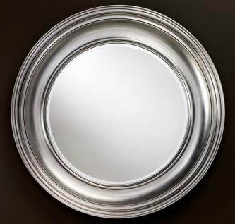 Casa Padrino Luxus Wohnzimmer Spiegel Silber Ø 102 cm - Wohnzimmer Wandspiegel