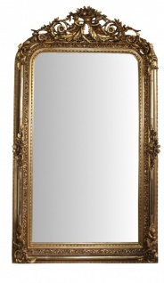 Casa Padrino Barock Wandspiegel Gold Antik-Look Höhe 157 cm, Breite 89 cm - Edel & Prunkvoll
