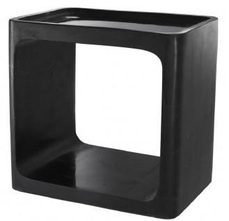 Casa Padrino Luxus Marmor Beistelltisch Schwarz 42 x 30 x H. 40 cm - Wohnzimmermöbel - Luxus Möbel