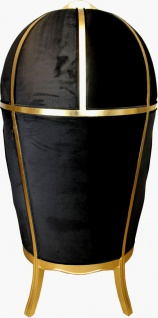 Pompöös by Casa Padrino Luxus Ballon Barock Sessel Bordeaux / Schwarz / Gold mit glitzernder Krone - Pompööser Barock Sessel designed by Harald Glööckler - Vorschau 5